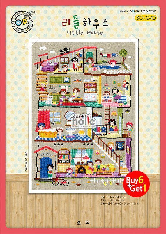 So  little house sodastitch cross stitch chart also in rh pinterest
