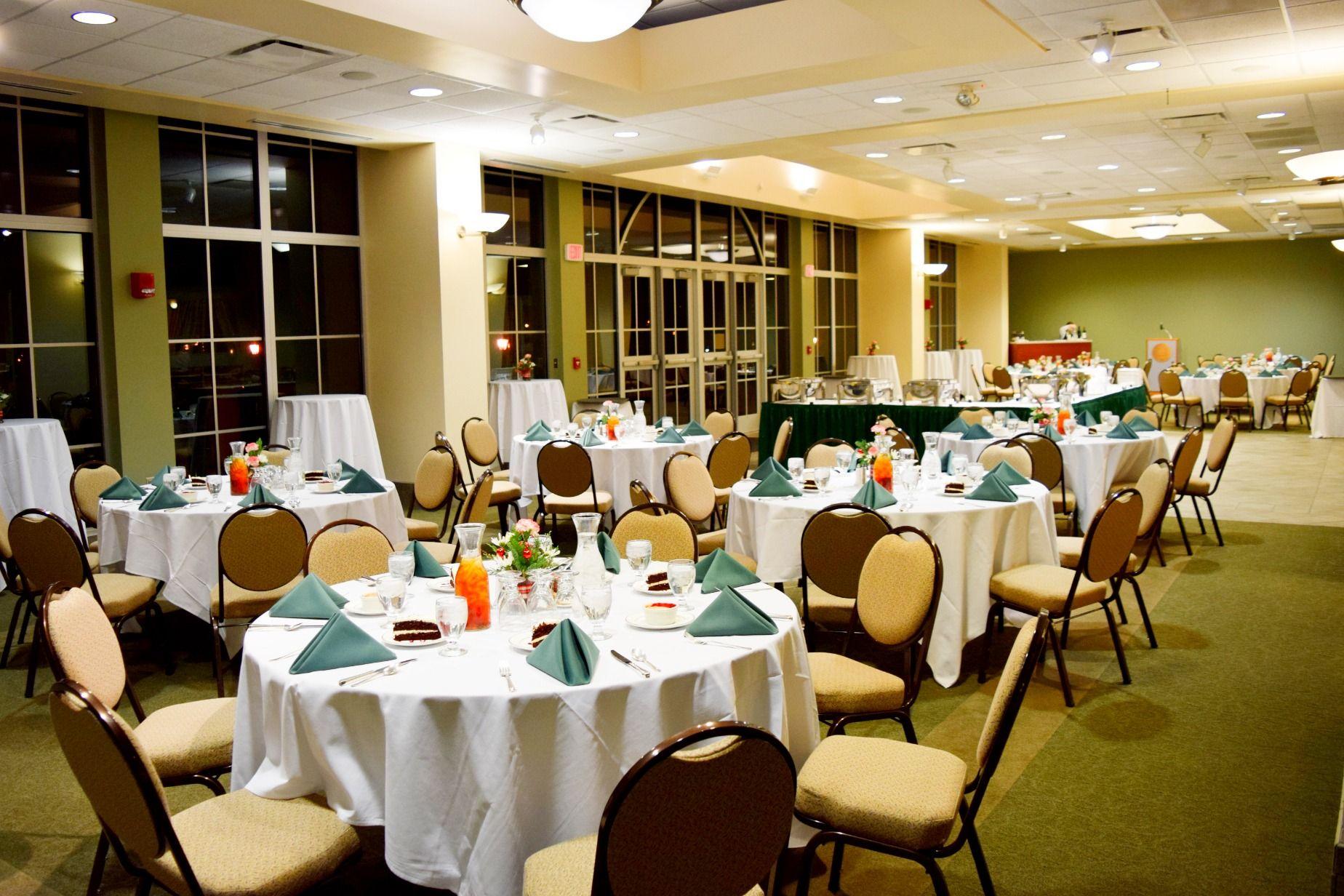 Reception In The Joslin Atrium At Illinois Wesleyan University In