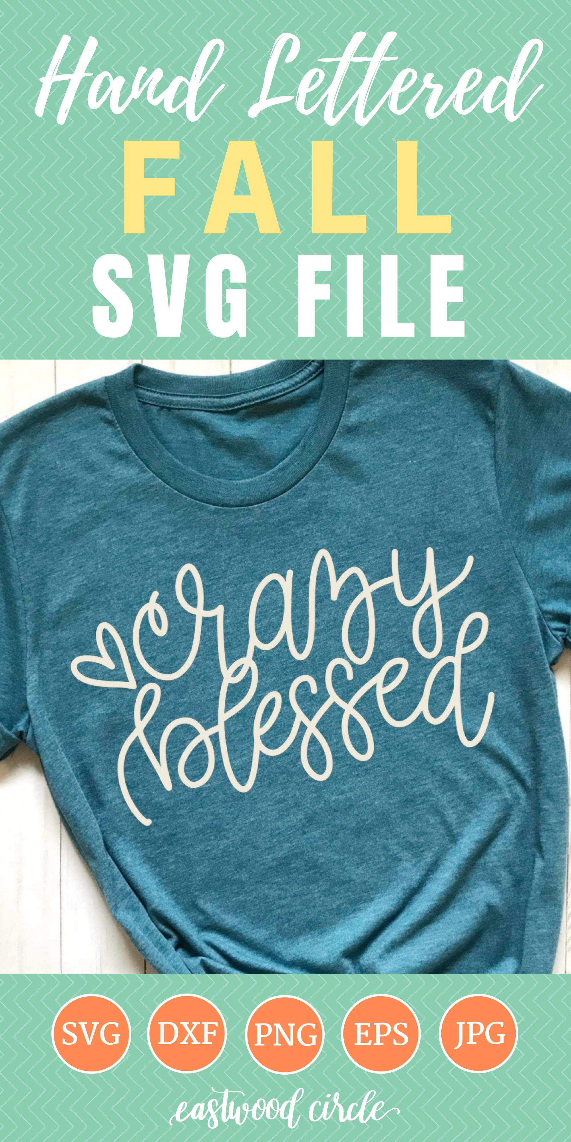Crazy Blessed svg, Fall svg, Fall svg File, Thanksgiving