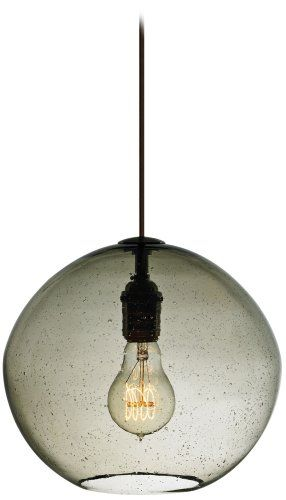 Lbl lighting lf512smbz2d60 isla 1 light 120 volt mini pendant smoke blown