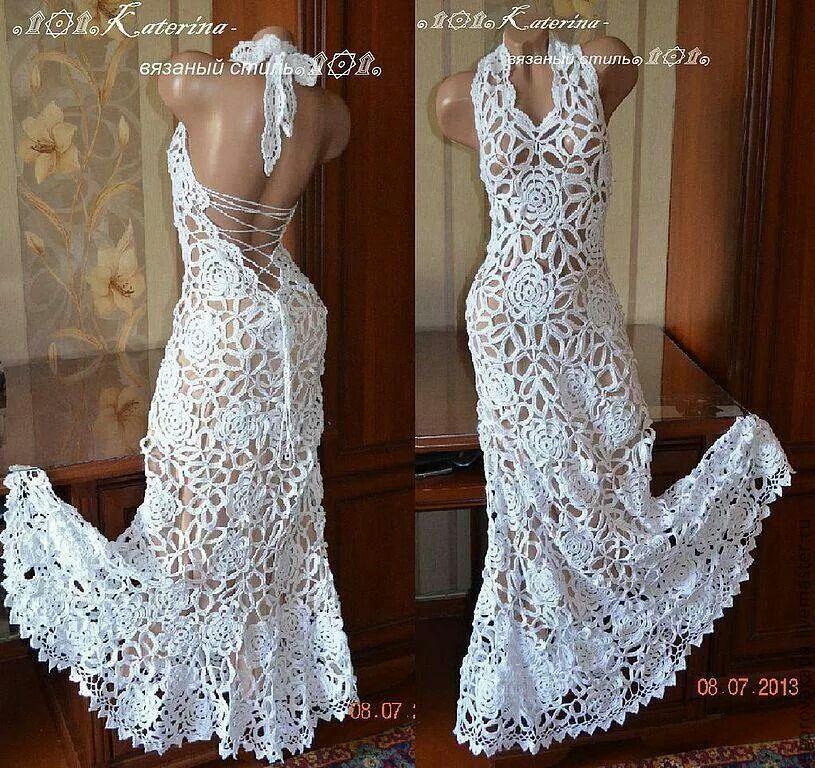 Crochet Wedding Dress Pattern, Crochet