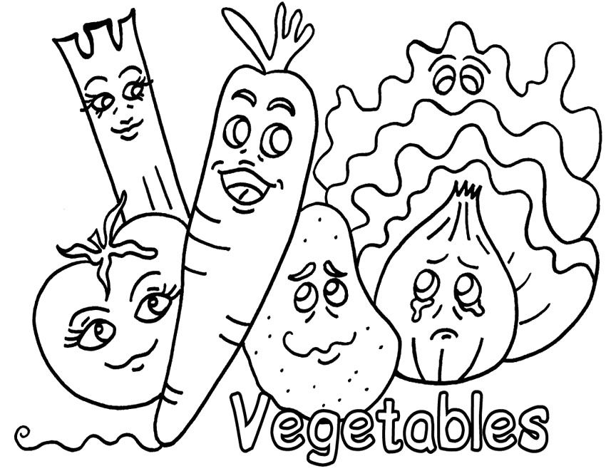 Vegetables That Are Ready To Be Cooked In Coloring Pages Vegetable Coloring Pages Fruit Coloring Pages Fruits And Vegetables Pictures