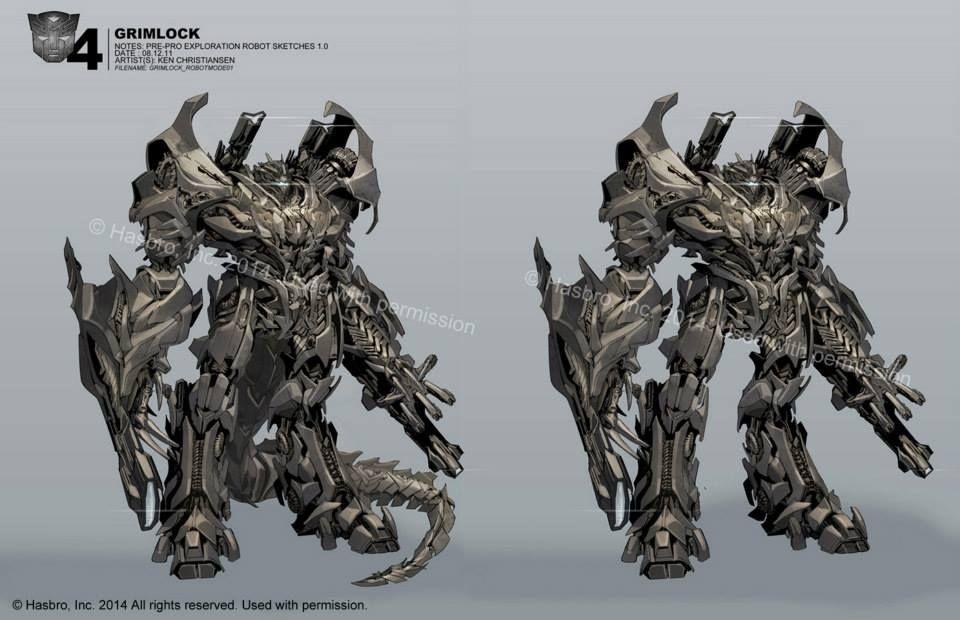 Transformers: Additional Ken Christiansen Age of Extinction Concept Art, Grimlock concept