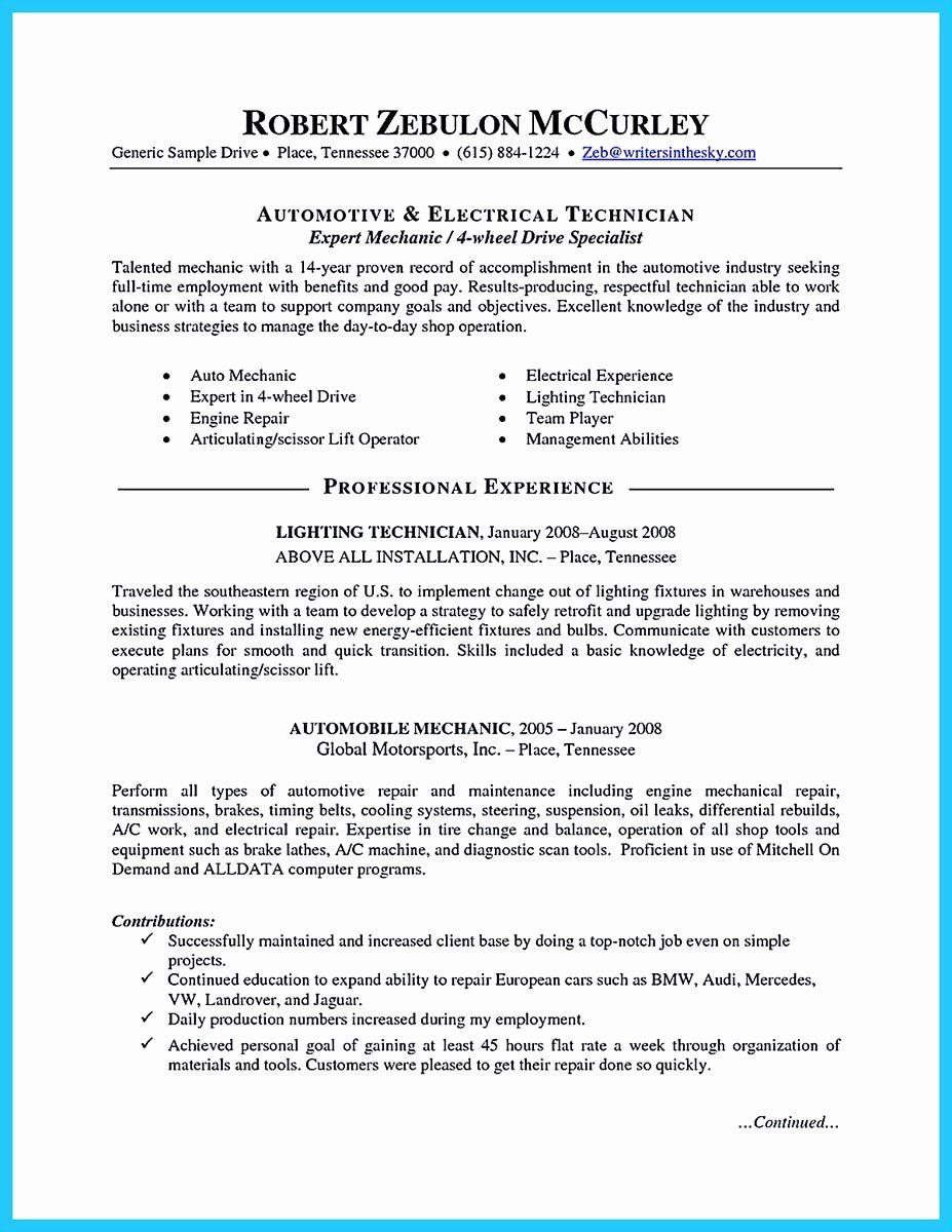 Mechanic Job Description Resume Beautiful Writing A