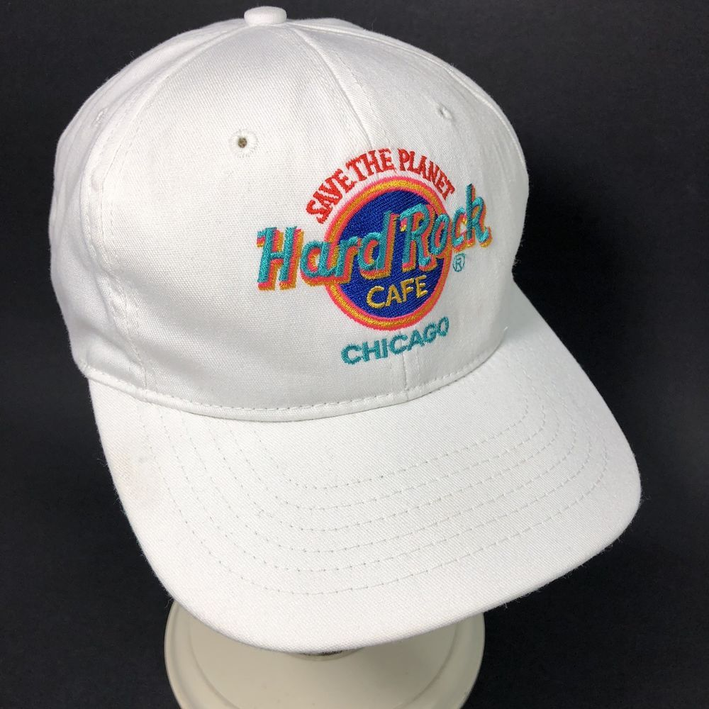 24ef935e Hard Rock Cafe Hat Chicago Save The Planet Made USA Snapback White Men Cap  Women #Unbranded #BaseballCap