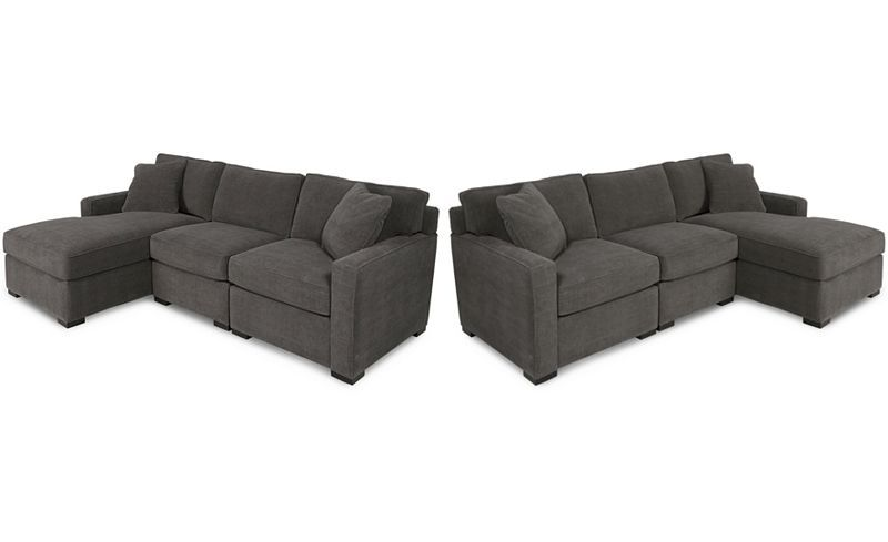 Furniture Radley 3 Piece Fabric Chaise Sectional Sofa Created For
