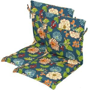 Hampton Bay Ruthie Floral Outdoor Sling Chair Cushion  (2 Pack) 7723 02223000 At The Home Depot