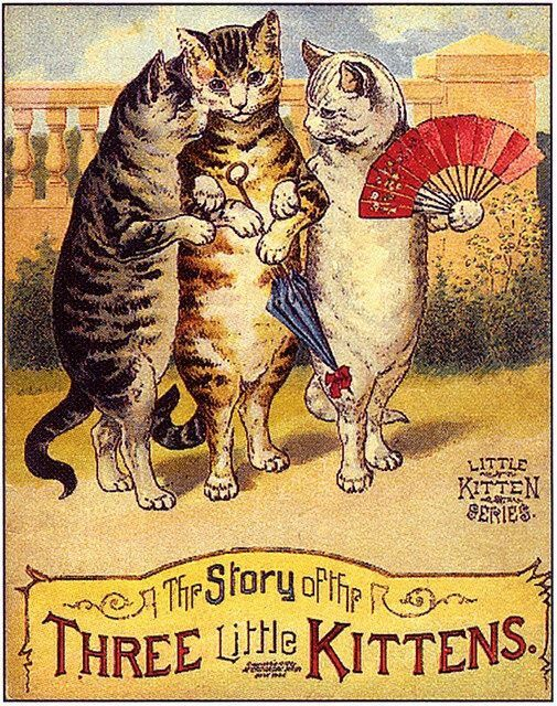 The Story Of The Three Little Kittens Cats Illustration Cat Art Cat Illustration