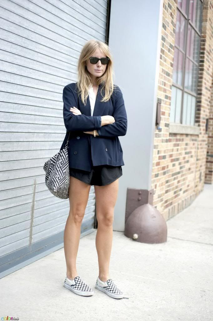 Le Fashion Blog -- 15 Ways To Wear Checkered Vans Slip On Sneakers -- Street Style Blazer And ...