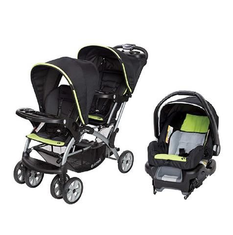 Red Green Or Pink Double Sit N Stand Twin Stroller Travel