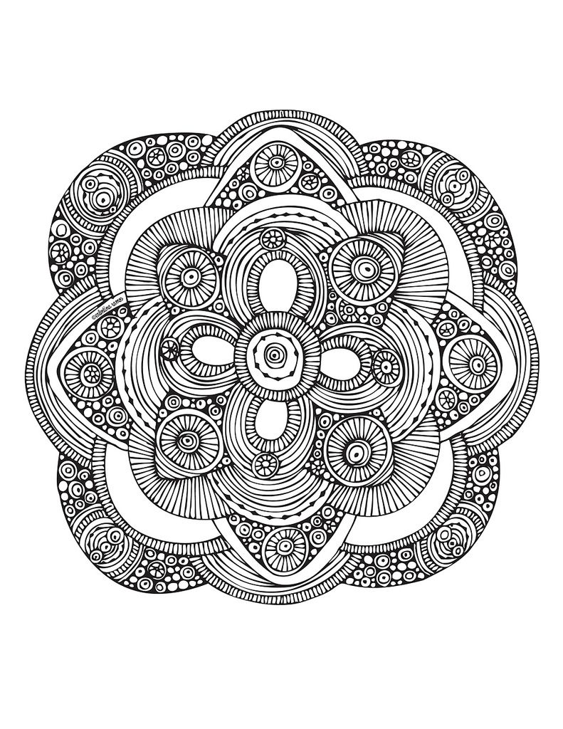 Lotus flower Mandala to color - Bing Images | Colouring - FLOWERS ...