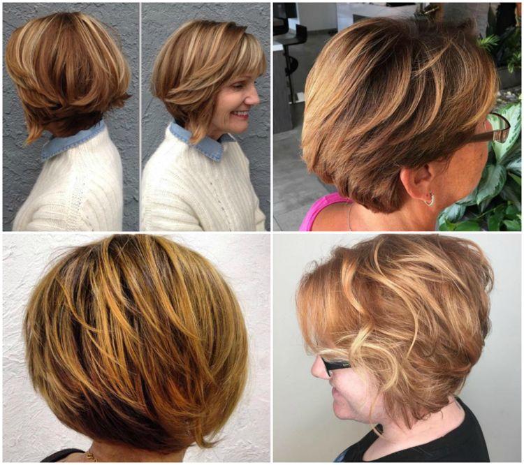 Frisuren Kurzhaar Damen Ab 50 Bob Honigblond Frisuren Pinterest