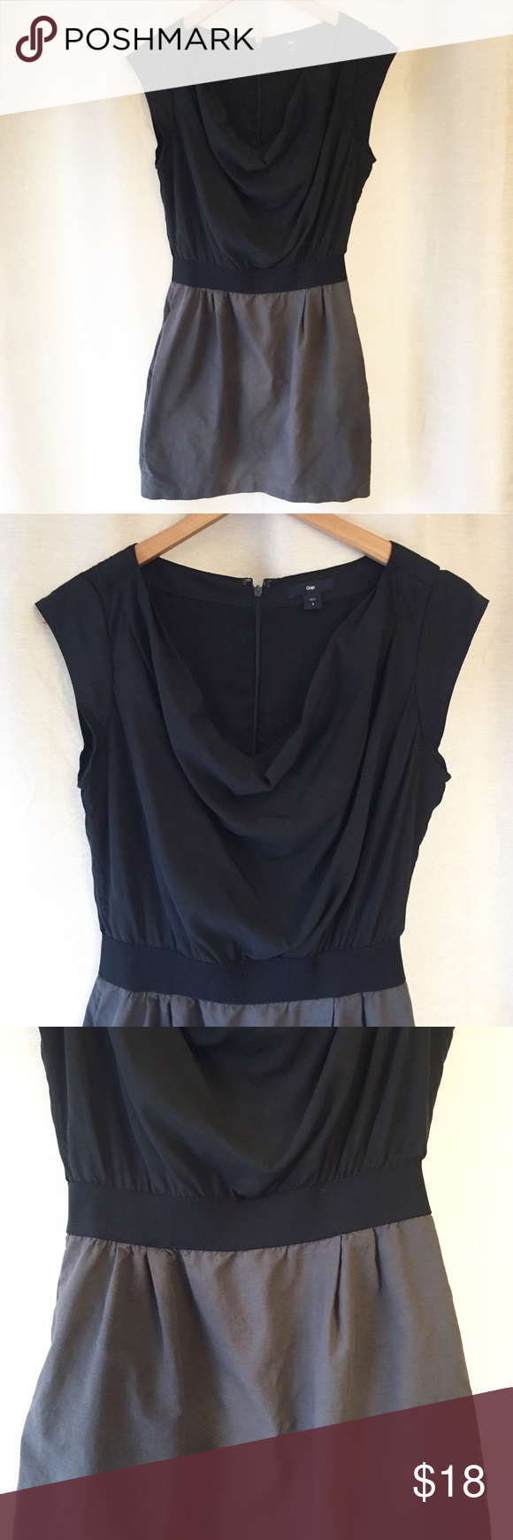 """Gap Cowl Neck Dress Gap cowl neck dress in a size 4. This dress is very versatile; dress up or down. Skirt portion is lined. In great condition. Flat measurement of length is 33"""". Upper: 71% modal, 29% polyester Lower: 100% cotton. GAP Dresses"""