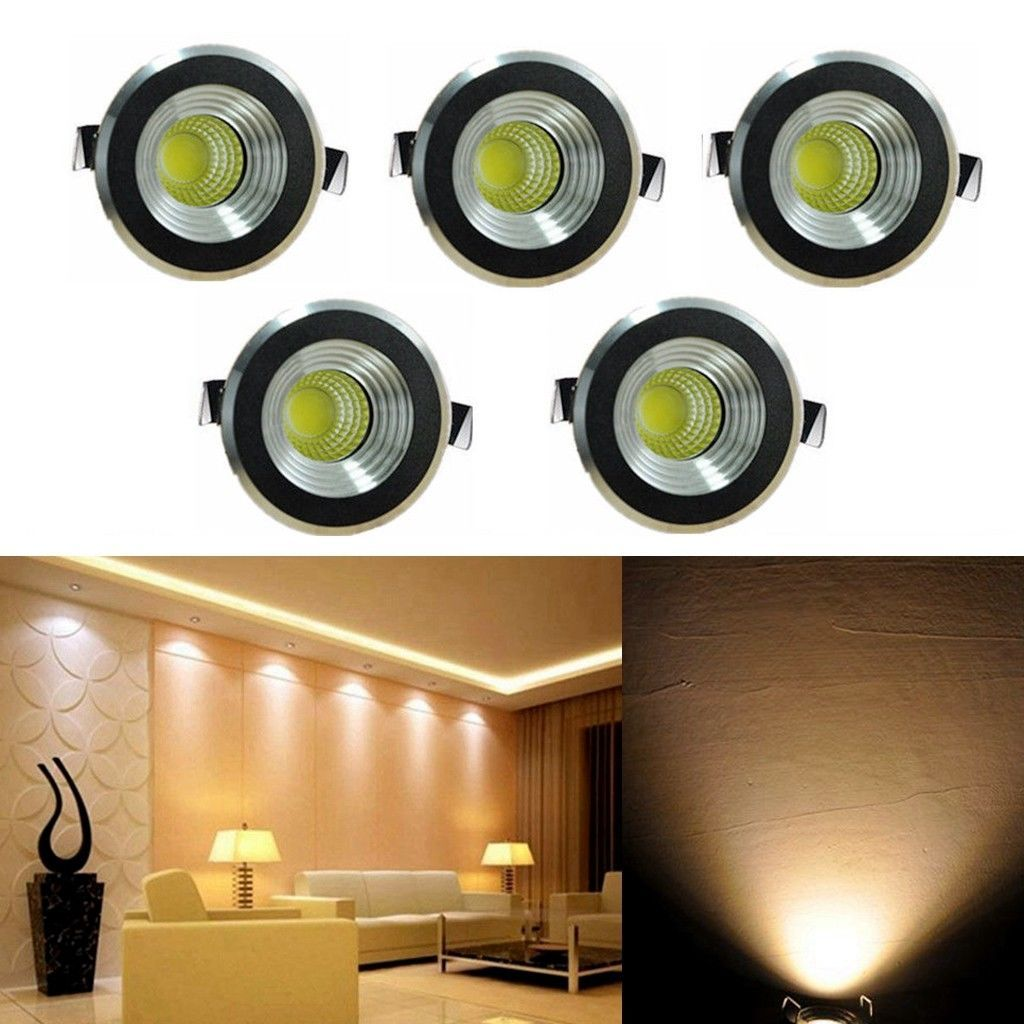 5x 3w led mini spot lampe encastrable