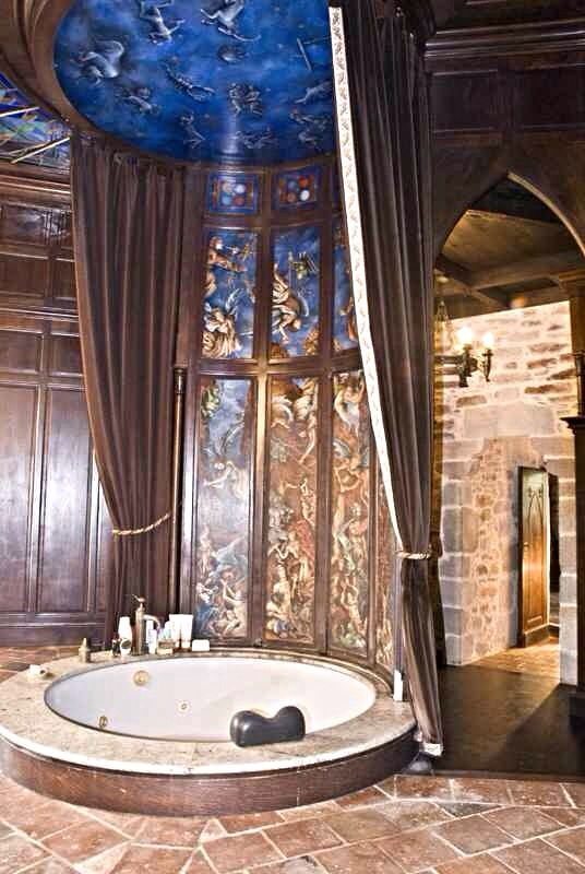 Master Bathroom On Third Level Medieval Castle De