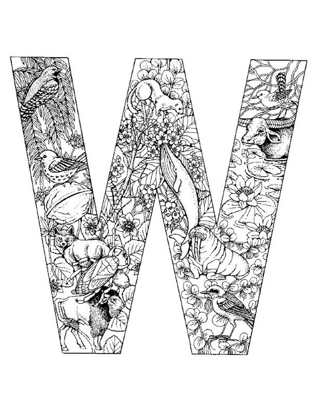 Letter W Alphabet Coloring Pages 3 Printable Versions Alphabet