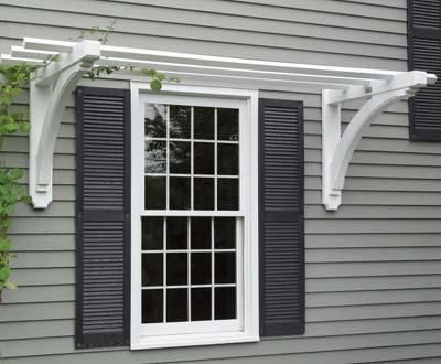 Simple Pergola Over Window Google Search Window Trellises Window Pergolas House Exterior