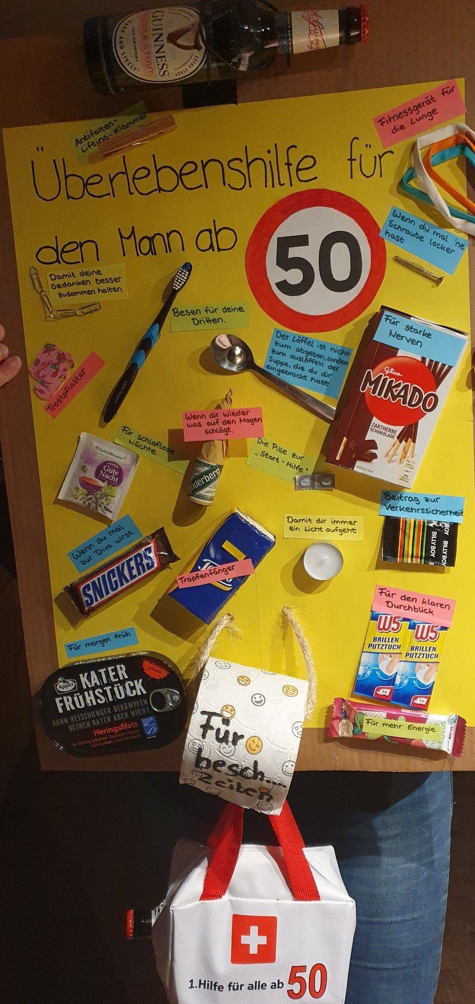 #fuermaennerab50 #geburtstagsgeschenk Überlebenshilfe für