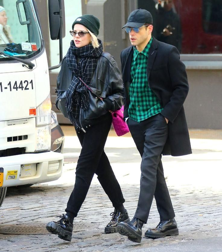 Lucy Boynton and Rami Malek Nail Winter Couples Style : Lucy Boynton and Rami Malek Nail Winter Couples Style | Vogue It's all in the details. #Lucy #Boynton #Rami
