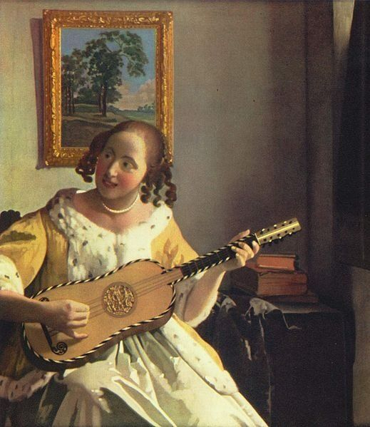 FRENCH GUITAR 17th century / Johannes Vermeer