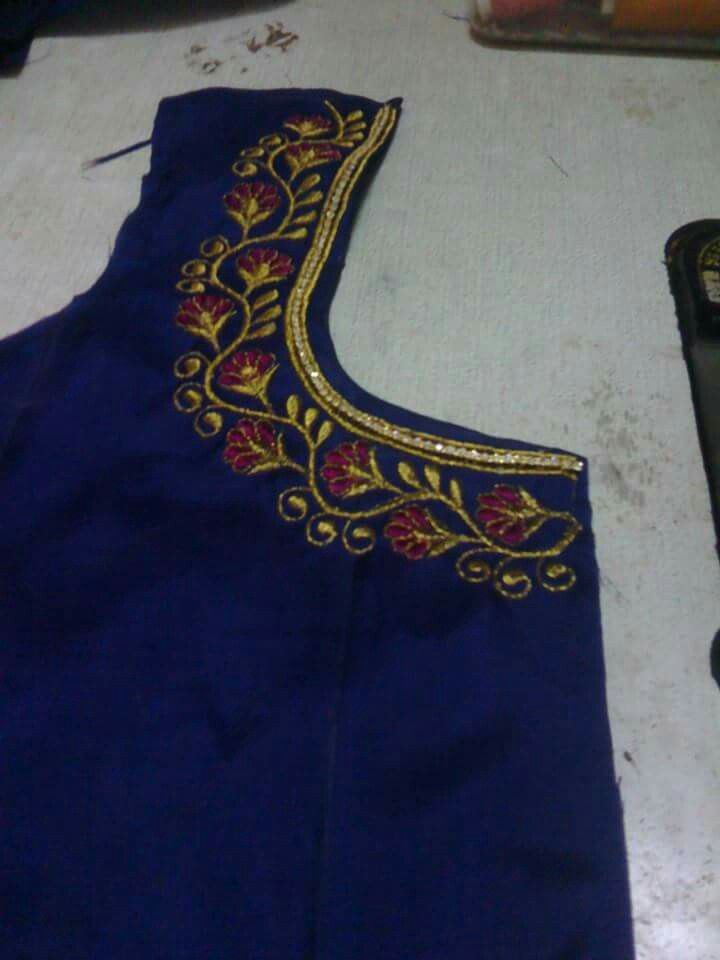 Pin By Lilysha Rani On Heavy Maggam Work Blouses Blouse Designs