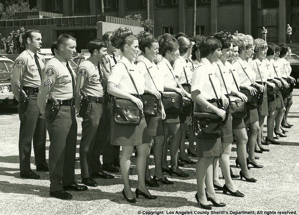 LASD female uniforms in the past included short skirts and