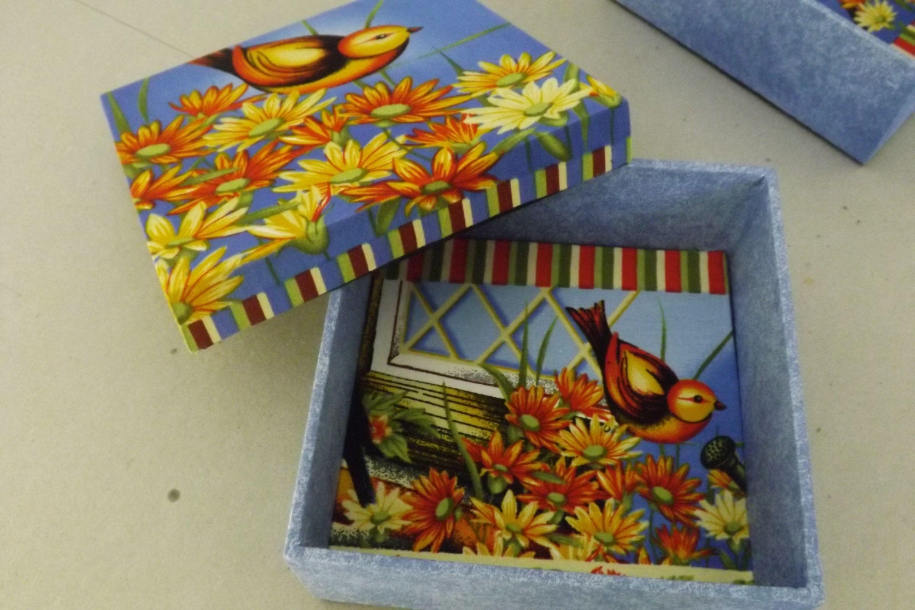 Interior da caixa - Tema: Pássaros!!