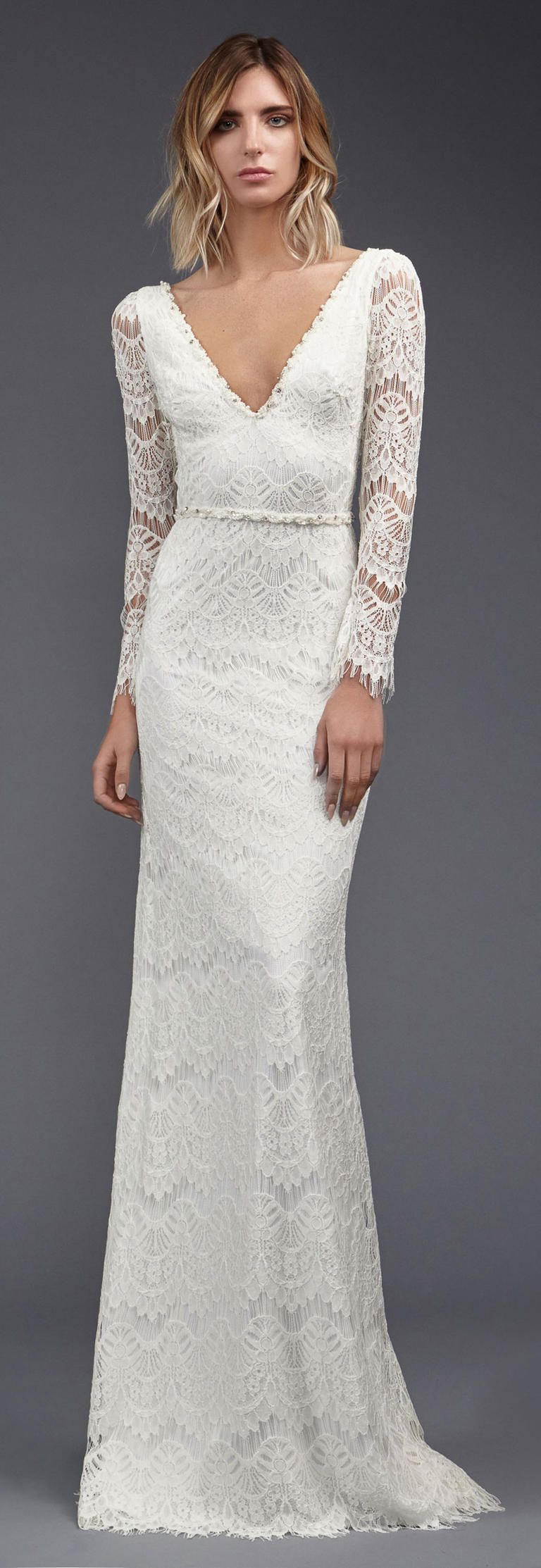 Victoria KyriaKides\' Weightless Lace Gowns for Spring 2017 ...