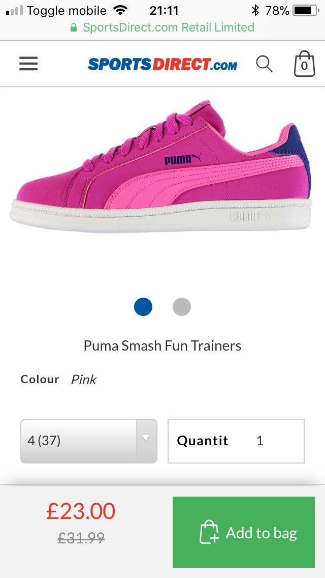 puma trainers sports direct