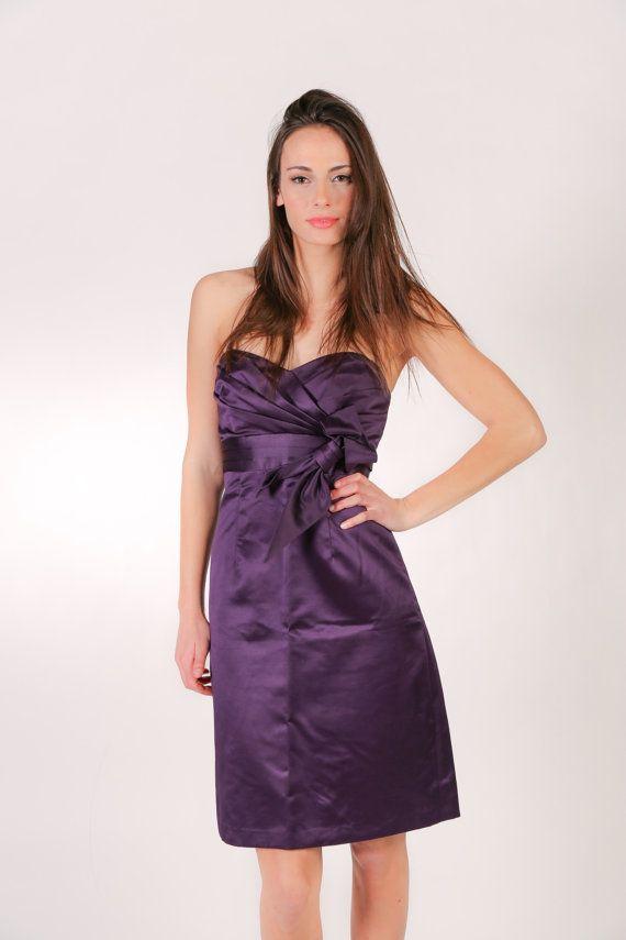 Sweetheart Neck Dress - Purple Cocktail Dress - Short Purple Dress ...