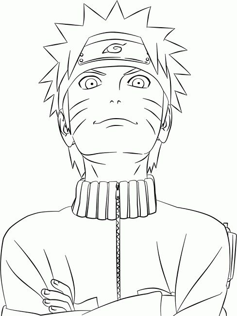 naruto shippuden coloring pages print Anime Pinterest Naruto