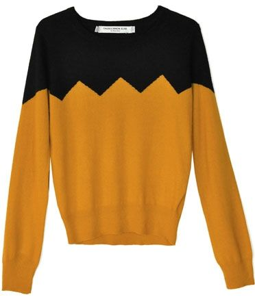 Something Else Charlie Brown Ochre Zig Zag Sweater | BONADRAG.COM ...