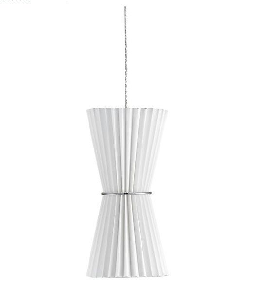 Mid century modern inspired style in this pendant lamp with accordion pleats play out in a coordinating trio of contemporary lighting options