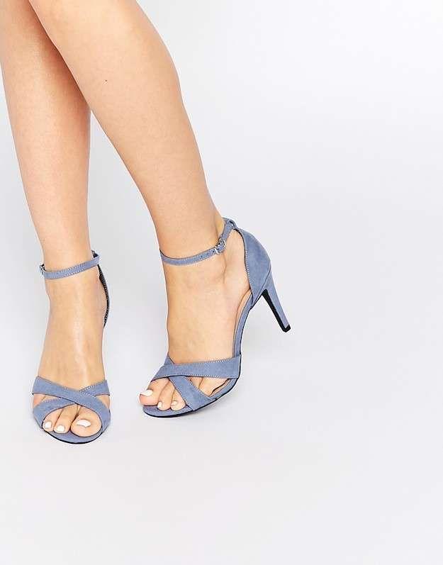 f0f43f02fc2 Zapatos pastel invierno 2016  fotos de los modelos - Sandalias azul cielo  New Look