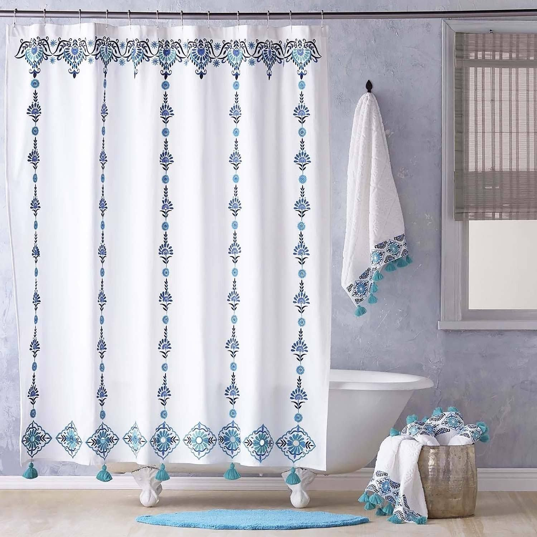 Aloka Teal Shower Curtain By John Robshaw Teal Shower Curtains