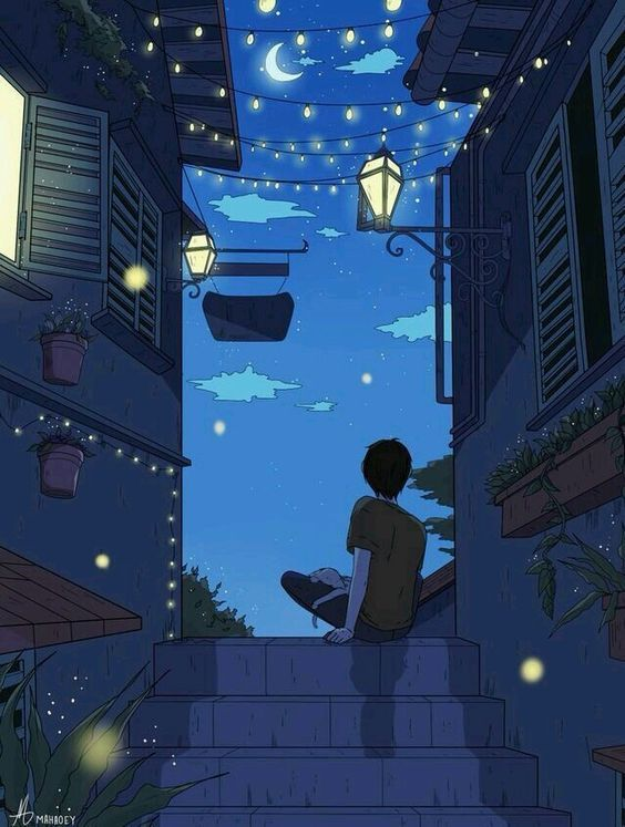 Blue evening sky discovered by 민영 (Trille) on We Heart It