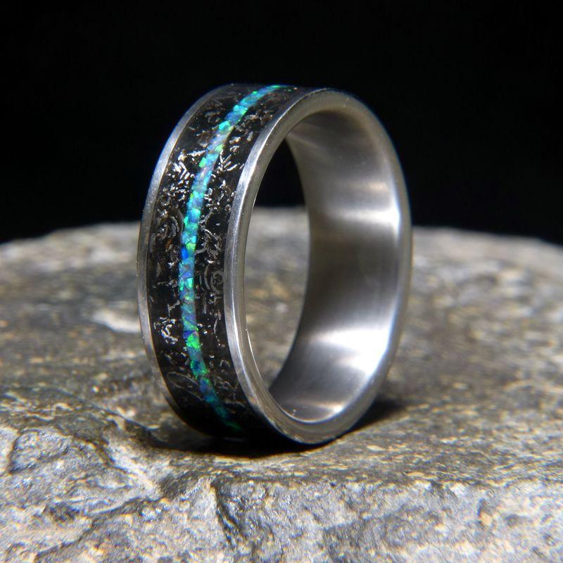 Green Dream Opal Inlay Ring