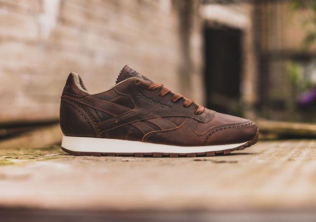 70bd68fc Reebok Classic Leather Lux Horween Black Brown | Sneakers: Reebok ...