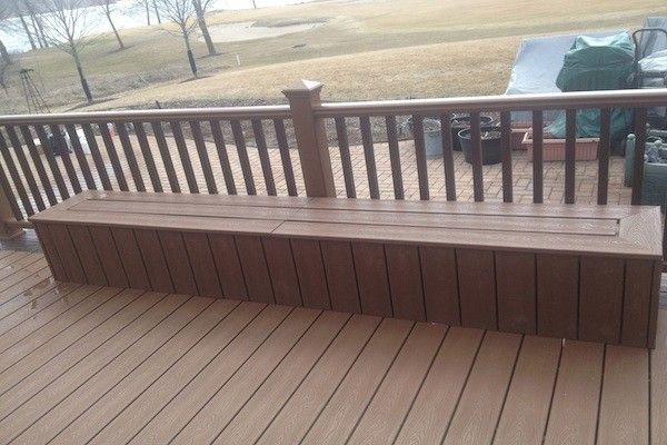 Trex Deck And Storage Bench In Lake Geneva Built By Rock Solid