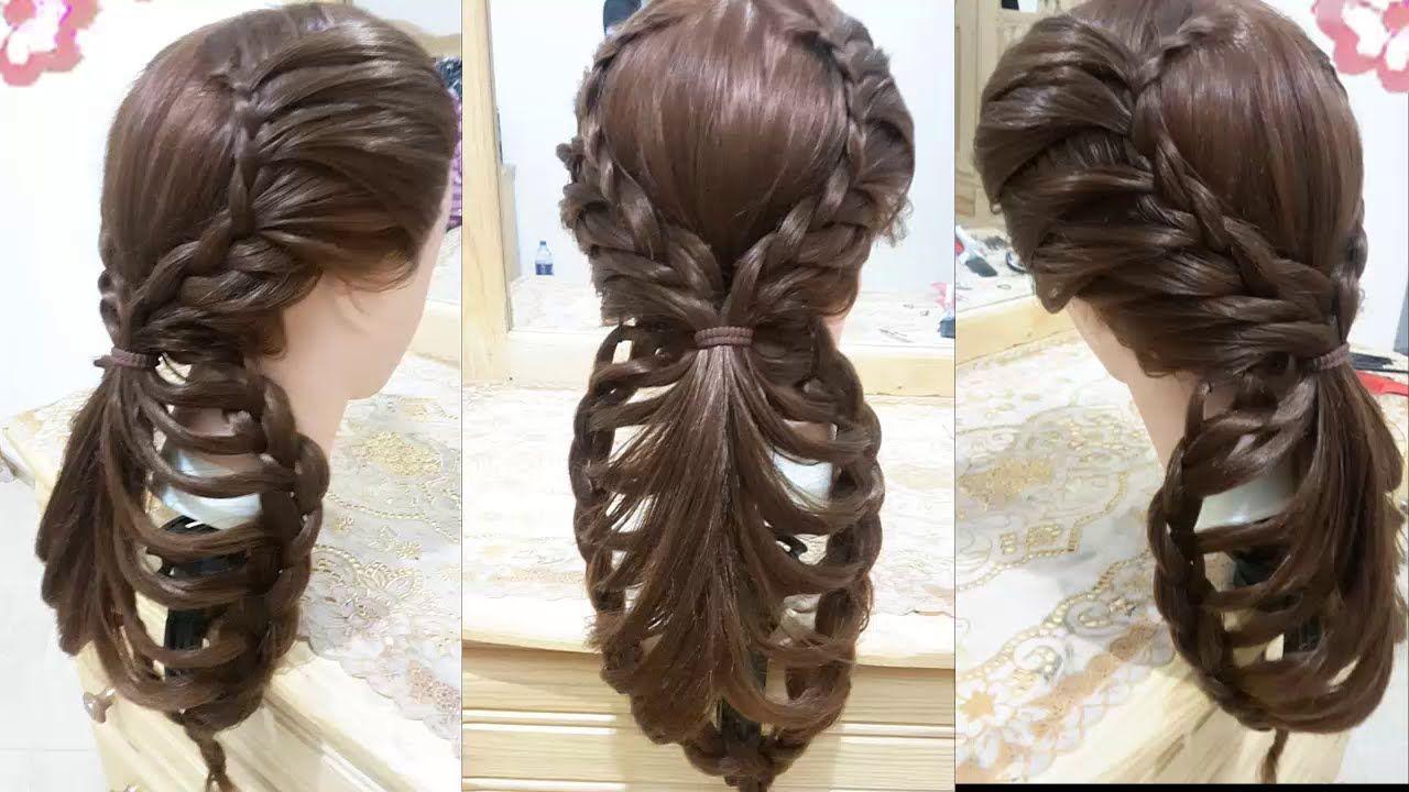 peinados faciles rapidos y bonitos con trenzas de moda para nia en cabe