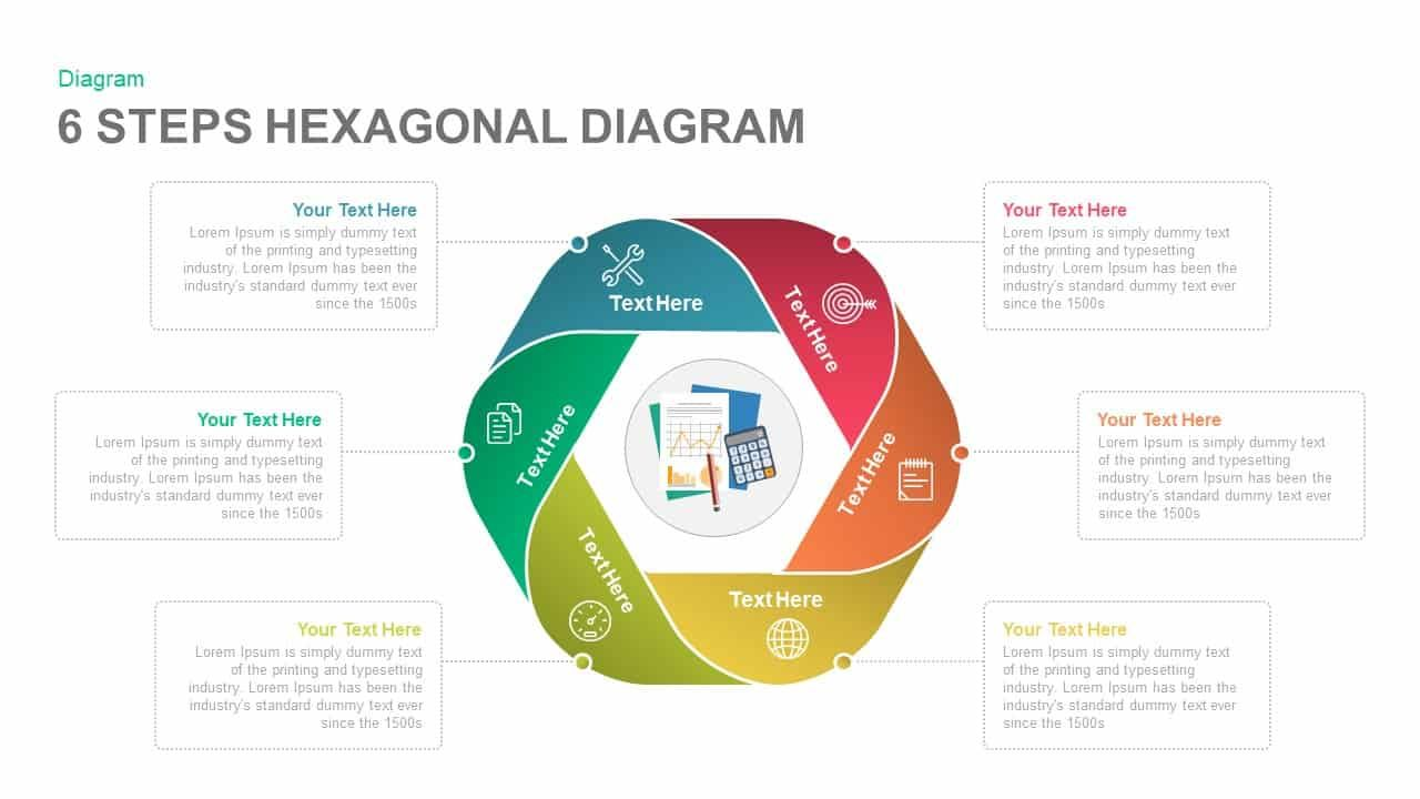 6 Steps Diagram Hexagon Powerpoint Template And Keynote Slide 6 Steps Diagram Hexagon Powerpoint Template With Powerpoint Powerpoint Templates Keynote Template