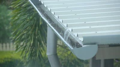 Rain Pouring Onto A Corrugated Stock Footage Video 100 Royalty Free 5426084 Shutterstock Corrugated Roofing Corrugated Metal Roof Aluminum Roof