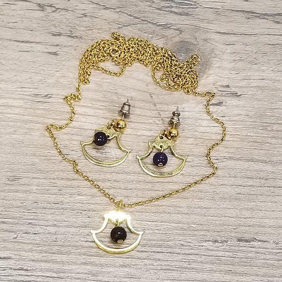 Vtg Historic Charleston Sc Lapis Pierced Earrings Matching