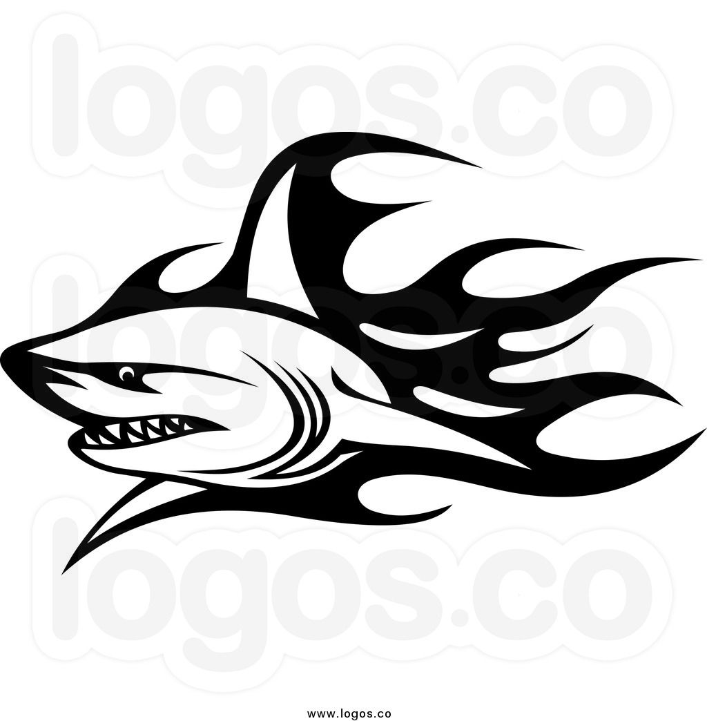 e0d9fbfe83680 Royalty Free Clip Art Vector Logo of a Black and White Tribal ...