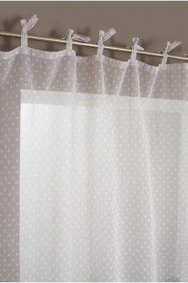 Rideau voilage nouettes motif pistils voilage pinterest voilages rideaux voilages et motifs - Rideau a nouette ...