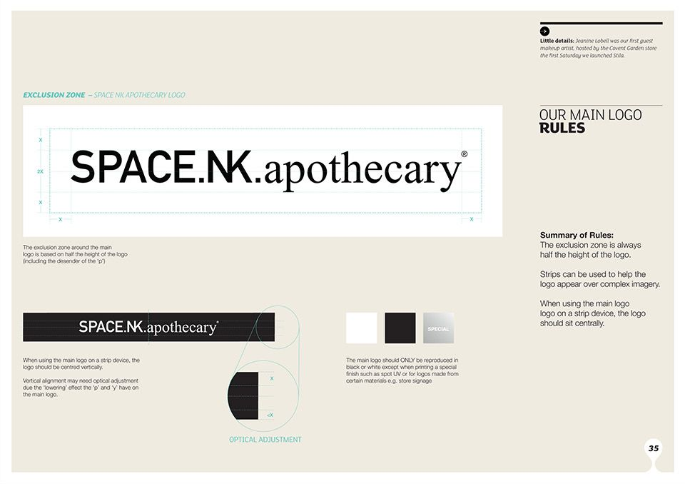 Space NK Identity branded by Territory | identity | Pinterest ...