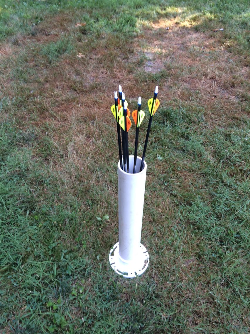 PVC arrow Holder   Home Projects   Pinterest   Archery ...