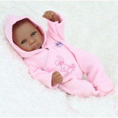 "11/"" Real Looking Handmade Silicone Doll Dark Skin Reborn Baby Boy Doll Xmas Gift"