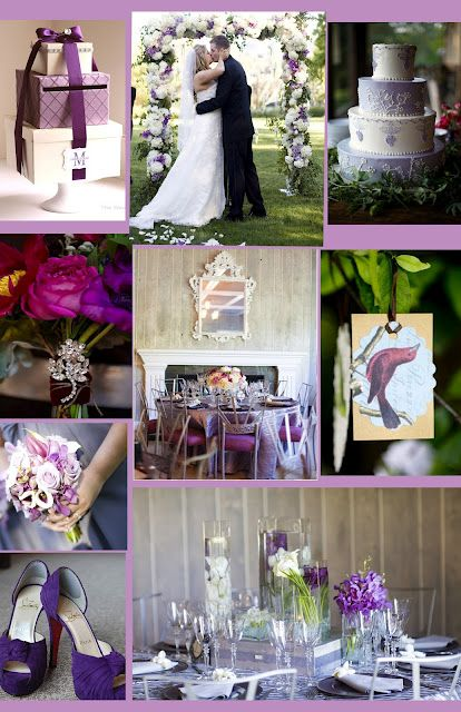 Lavender Vintage Wedding Theme Purple Color Stylemepretty