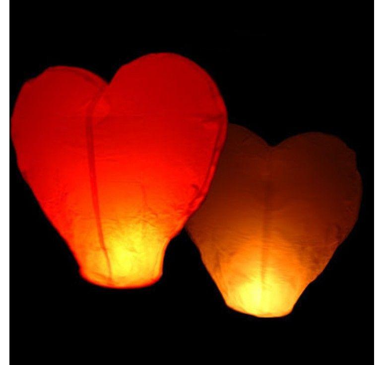 Heart Shaped Flying Lantern Lampion Terbang